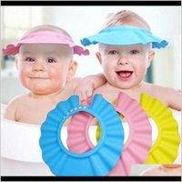Caps Baby Maternity Drop Consegna 2021 Regolabile Baby Bambini Shampoo Bagno Bagno Bagno Doccia Cappello Cappello Ear Lavaggio Capelli Scudo ISSEQ