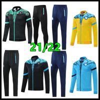 2021 2022 Napoli Tracksuit Futebol Jerseys Treinamento Terno Nápoles Insigne Insigne Zielinski Sobrevetimento Sobrevetimento Com Capuz Câmeras de Futebol 21 22 22