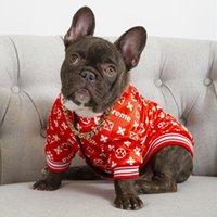 Veste de vêtements de chiens de mode en plein air lettre de haute qualité pirnted petit moyen chaudium chiens chat chat chiens manops vêtements de vêtements d'extérieur