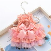 Spitze Haustierkleid Kleine Hundekleidung Prinzessin Katzenkleid Party Dog Hochzeitskleid Tutu Rock Puffy Sleeves Yorkshire Terrier Kleidung 1322 T2