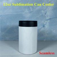 12oz Сублимация может охладить пробелы могут изолятор из нержавеющей стали Сублимационные тумблер бесшовные пивной держатель вакуумная изоляция бутылки холодная изоляция может