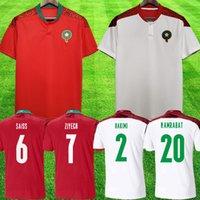 2021 Марокко футбольные трикотажные изделия домой 20 21 21 Maillot de Foot Ziyech Boufal Fajr Munir Ait Bennasser Amrabat футбольные рубашки