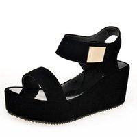 2021 New Sandals Women Summer Shoes Woman Wedges Platform Sandals Fashion Fish Mouth Rome Sandals White Black Women Shoes 210402