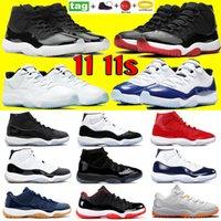 Com Keychain 11 11s 25º Aniversário Basquetebol Sapatos Criados Low Citrus Legend Blue Concord 45 Treinadores Tampão e Vestido Homens Mulheres Sneakers