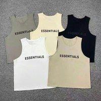 Страх Божьего тумана Essentials Vest off Off Mean Tain Tain Tains Tops без рукавов стильная сетка ткань дышащий логотип печати спортивные шорты 01 Q28P #