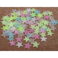 Glow 3CM In The Dark Moon Stars & Planet Wall Ceiling Decor Stick On Space decoration 65JD