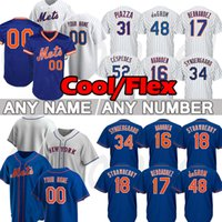 Novos homens York 12 Francisco Lindror Mets Jerseys de Beisebol 48 Jacob Degrom Jersey 20 Pete Alonso Darryl Morango Mike Piazza Hernandez Rosario Stroman Custom Top