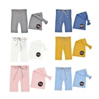 Caps & Hats Born Pography Props Knitted Accessories Pants Long Tail Cap Baby Boys Girls Costume Pographie