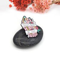 Pins, Brooches There's Better Be Cats Enamel Pin Cartoon Animal Pink Cat Coffin Lapel Backpack Jackets Cute Badge Jewelry
