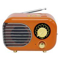 Áudio Multifuncional DC 5 V Bluetooth Radio Home ABS Presente Mini Portátil Retro Aux USB Recarregável FM Speaker Music Player