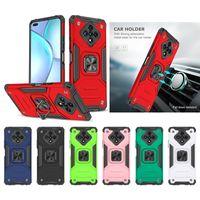 Hakks Hybrid Armor Ring Stand Magnetic Carse Case для Google Pixel 4A 5 5A 5G Infinix Smart 4 Hot9 Hot10 Play Note 7 Lite Zero 8 Asus Max Pro M1 M2 Live L1 ZC554KL ZA550KL