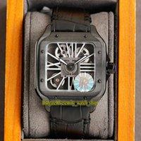 Вечность Часы V3 Обновление Версия RRF 2020052 Horloge Скелет 0009 Швейцарская Ronda 4S20 Кварцевые часы Часы Черный Сталь Корпус Быстрая разборка Кожаный Супер издание