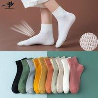 10pcs=5pairs lot Solid Mesh Women's Short Socks Ankle Socks Women Spring Summer Breathable Thin Boat Socks