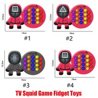 New TV Squid Game Fidget Toys Simple Dimple Squeeze Push Bubble Sensory Stress Reliever for Adult Children Autism Antistress Christmas Decompression Toy Gifts