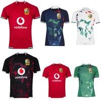 2021 İngiliz İrlanda Aslanlar Rugby Jersey 20 21 Ev Eğitim Testi Isınma Gömlek Boyutu S-5XL