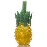 Ananas Cam Borular El Yapımı Sarı Sigara Boru Pyrex Bubbler Kaşık Güzel Tütün Araçları