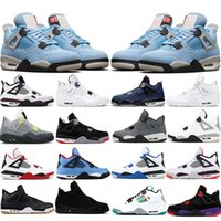 Nike air jordan Universidad Azul 4 Zapatos de baloncesto 4s Disparado Red Black Cat Cool Gris Court Purple Cred Mens Sneakers Sports Tamaño 7-12US