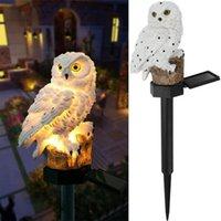 WACO Solar lights Outdoor Garden Decorations, Hars Owl Solar-Led-Lights met Stake for Lawn Pathway Yard Decoratief