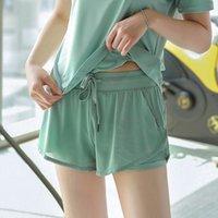 Girl Sports Shorts Summer Algodón de algodón suelto Playa Doble Pantalones a prueba de gimnasios a prueba de gimnasios al aire libre Pantalones casuales al aire libre 2021 Moda coreana Rechaza de yoga de secado rápido WMQ1100