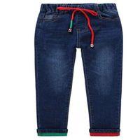 Marka Pantolon Çocuk Pantolon Moda Erkek Kot Çocuk Yırtık Tayt Bahar Denim Kıyafetleri Bebek Rahat Jean Bebek 4 ila 14 Yıl 251 Z2
