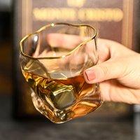 الويسكي النبيذ الزجاج كأس الشمال الملتوية الروح الشفافة النار الإبداعية المطبخ drinkware بار كوكتيل شرب نظارات