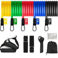 Resistance Bands Set Bodybuilding Home Gym Equipment Professional Weight Training Fitness Elastic Rubber Workout Expander