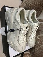 メンズ・ライトンカジュアル靴トレンディなお父さんスニーカーパリダンスストリートウェア初期春の女性箱7dgの厚い革スニーカー