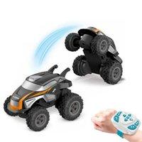 Kakbeir 2,4g Mini RC Taumeln Stunt-Auto-uhr-drahtlose Erfassungssteuerung Off-Road Racing 360 Grad Elektronische Nette Auto Kinder 210607