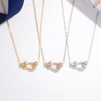 Стерлинговое серебро 925 стерлингового серебра с алмазным кулонком Известный бренд изысканные украшения для женщин целое ожерелье в целом