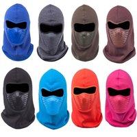 Anti-dust Bike Thermal Balaclavas Scarf Cycling Winter Fleece Warm Full Face Cover Balaclava Face Mask Unisex 122 X2