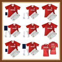 2021 Top Qualität als Monaco Ben Yedder Soccer Jerseys Jovetic Golovin 20 21 MAILTOT DE FOUSE Aguilar Fabregas Football Shirt Männer Kinder