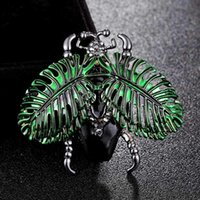 Pins, Brooches Donia Jewelry Blue Insect Brooch Men's Christmas Turban Fashion Hat Accessories