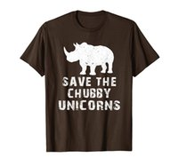 Rolig Save The Chubby Unicorns Fat Rhino Vintage T-shirt