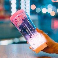Japanischer Style Starbucks Kaffeetasse Kirschblütenfliegen LED Sakura Rosa Lampe Becher 473ml