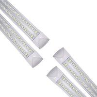 LED Light Bulb 4 5 6 8 ft Cool T8 Tube Integrate V Shape 4ft 8ft Cooler Door Freezer Fluorescent Shop Lamp 25 Pack AC 110-277V USALIGHT