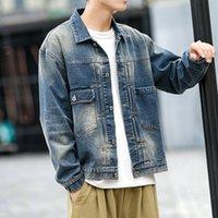 Herbst Neue Denim Jacke Männer Slim Fashion Wash Retro Casual Denim Jacke Mann Streetwear Wild Hip Hop Bomber Männliche Kleidung