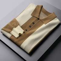 Minglu automne et hiver sweaters masculins de luxe contraste couleur décontracté hommes mode slim fit homme 3xl hommes