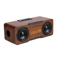 24W Columna portátil de madera Bluetooth Altavoz inalámbrico Radio Radio Subwoofer SoundBar para altavoces de TV AUX USB