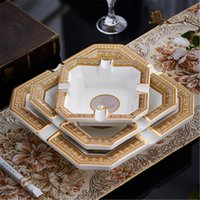 modern letter printed Ashtrays unisex classical home hotel Smoking Accessories ceramics high quality Ashtray free ship