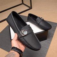 Mm 2021 hombres zapatos de cuero genuino antideslizantes para hombre mocasines de lujo cabeza de lujo de cuero negocio de negocios zapatos de mocasines ocasionales 38-44 11