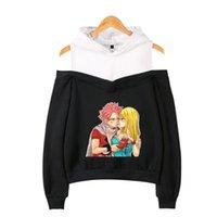 Women's Hoodies & Sweatshirts Anime Fairy Tail Kawaii Women Hoodie Patchwork Long Sleeve Off-Shoulder Girl Harajuku Tracksuit Ladies Streetw
