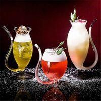 1 قطعة واضح الزجاج النبيذ الويسكي مقاومة للحرارة مص عصير حليب كوب الشاي الخمور الزجاج C50 X0703