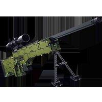 PANLOS Yapı Taşı 670001 DIY Plastik Tuğla Sniper Tüfek Askeri Gun Setleri Legoing Eğitici Çocuklar Için AMW Eğitim Çocuk