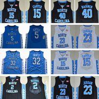 Pallacanestro Jersey 5 Nassiir Little Carter 32 Luke Maye North Carolina Tar Tacchi Michael College Barnes Vince Unc Blue Blue Black Jerseys Shorts Camicia