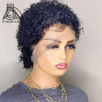 Lace Wigs Pixie Cut Wig Preplucked Short Bob Part Afro Curly Frontal Bouncy Glueless Human Hair