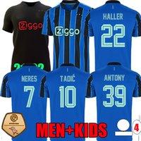 21 22 TADIC HALLER Amsterdam Away Blue Soccer Jersey AFC 50th 2021 2022 Klaassen Antony Neres AjaxJersey Men Kids Kit de futebol camisa FANS FANS VERSÃO DE JOGADOR