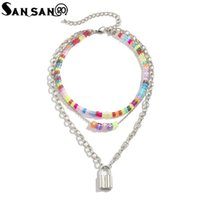 Chokers Colorful Acrylic Letter Beads Necklace For Women Seed Beaded Choker Fashion Jewelry Gifts