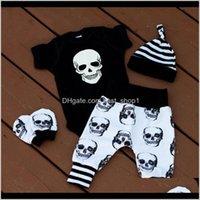 Ensemble de vêtements bébé, enfants de la maternité enfants livraison 2021 est automne Halloween crâne bébé vêtements nés ensemble garçon bébé garçons filles romper combinaison à