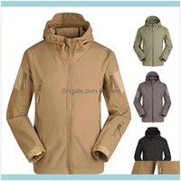 Jackets&Hoodies Wear Athletic Outdoor Apparel Sports & Outdoorswinter Camouflage Waterproof Softshell Fleece Warm Rain Jacket Men Uniform Fi