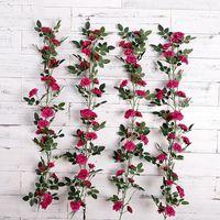 محاكاة الورود الروطان الزفاف جدار خلفية الديكور الاصطناعي زهرة el أهلا وسهلا بك مهرجان الزخرفية الزخرفية